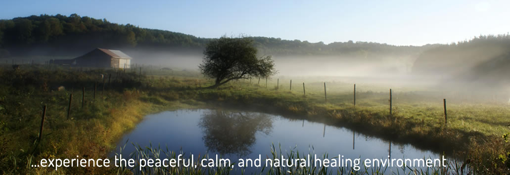 experience the peaceful, calm and natural healing environment in Caledon