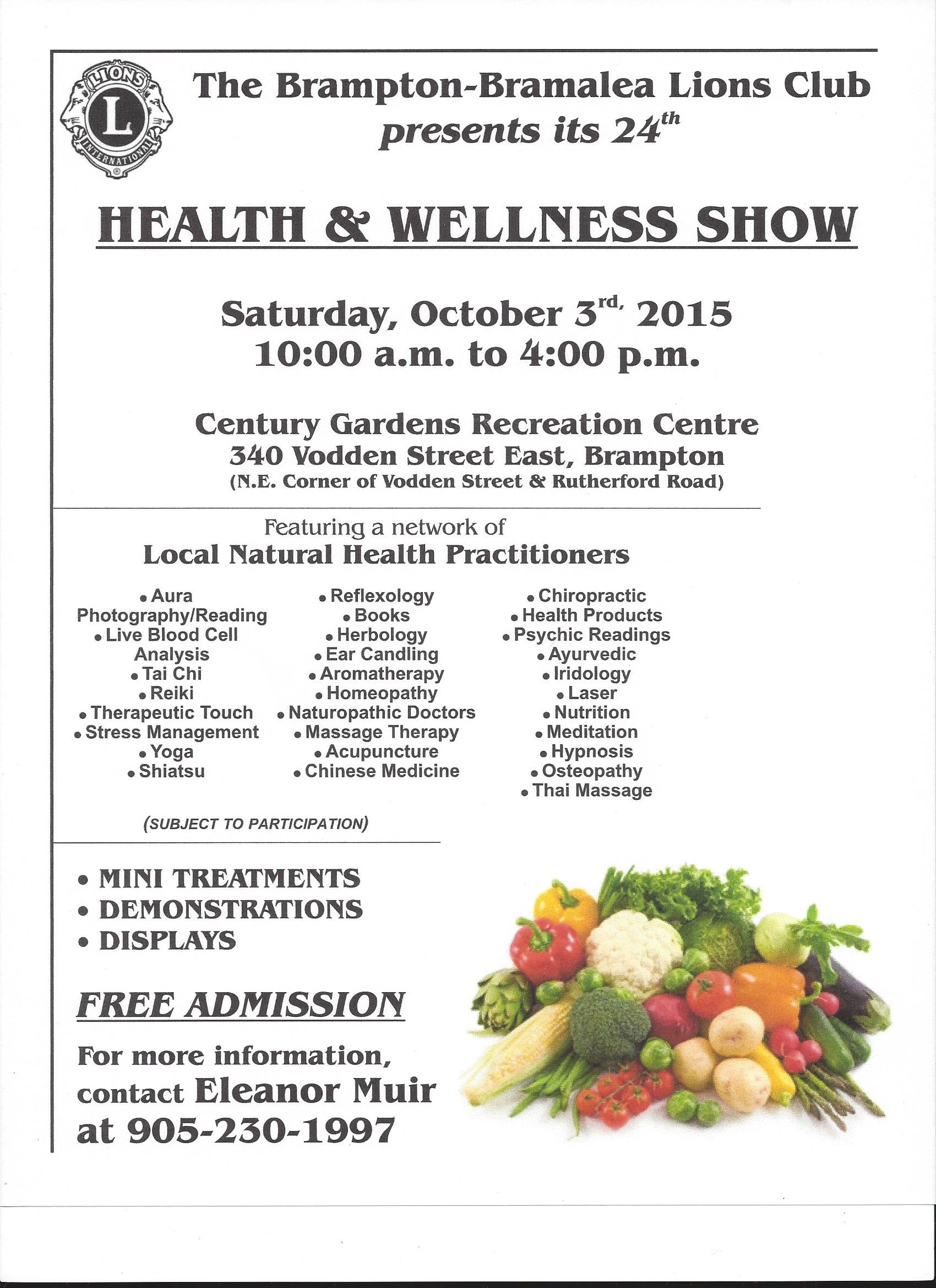 See you @ the Lion's Club Health Show!